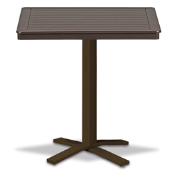 "Telescope Casual Marine Grade Polymer 32"" Square Bar Table with Pedestal Base - T150-4X20"