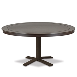 "Telescope Casual Marine Grade Polymer 48"" Round Chat Table with Pedestal Base - TM80-1X20"