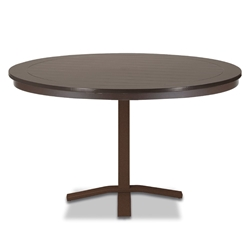 "Telescope Casual Marine Grade Polymer 48"" Round Dining Table with Pedestal Base - TM80-2X20"
