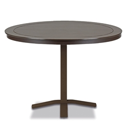 "Telescope Casual Marine Grade Polymer 48"" Round Balcony Height Table with Pedestal Base - TM80-3X20"