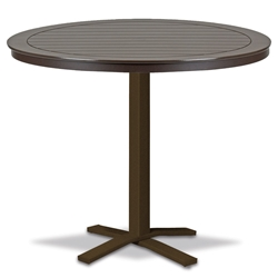 "Telescope Casual Marine Grade Polymer 48"" Round Bar Table with Pedestal Base - TM80-4X20"