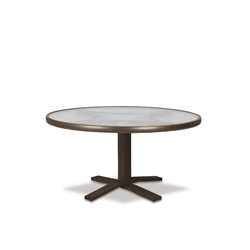 "Telescope Casual Obscure Acrylic 30"" Round Chat Table with Pedestal Base - T980-ACR-1X20"