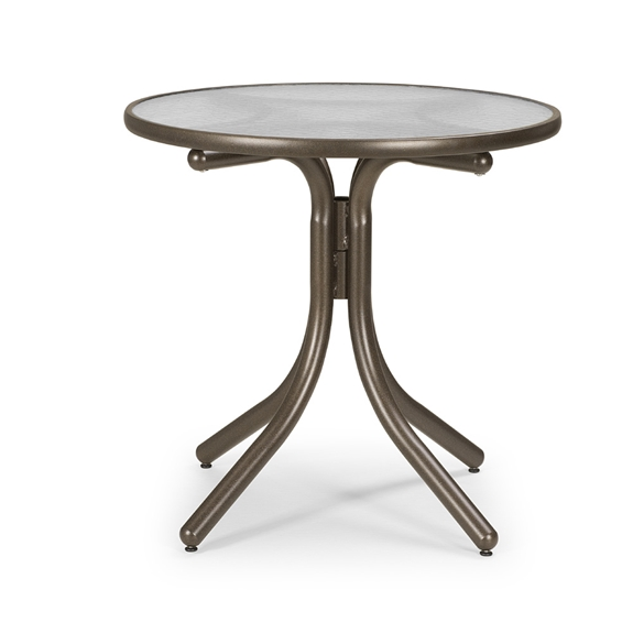 Telescope Casual 30 Inch Obscure Acrylic Round Dining Table - T980ACR-2W20LEG