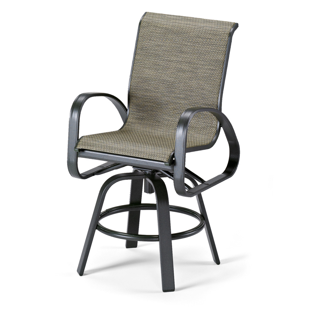 Primera Sling Counter Height Swivel Arm Chair