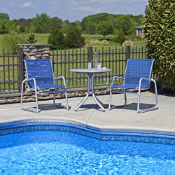 Telescope Casual Reliance Contract Strap Patio Dining Set for 2 - TC-RELIANCE-SET4