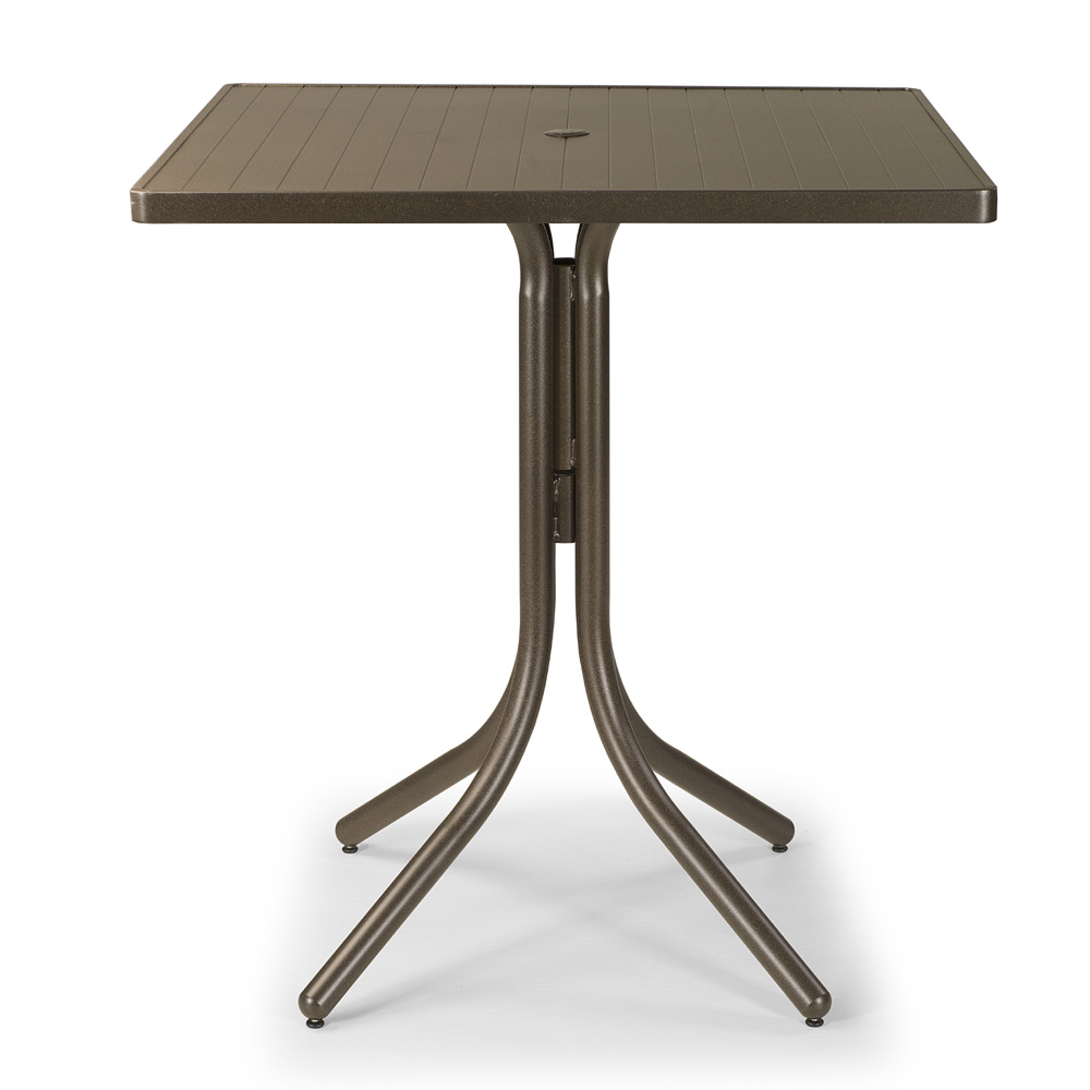 Telescope Casual 36 Inch Aluminum Slat Square Bar Table - 3180-4W50LEG