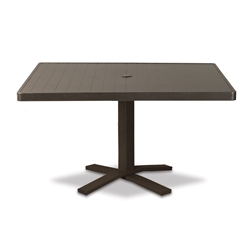 "Telescope Casual Aluminum Slat 36"" Square Chat Table with Pedestal Base - 3180-TOP-1X20"