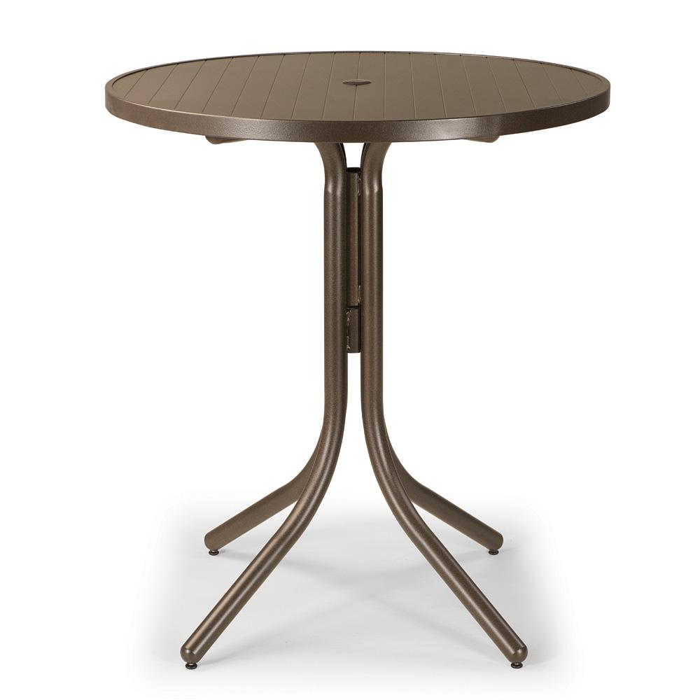 Telescope Casual 36 Quot Aluminum Slat Round Bar Table 3230