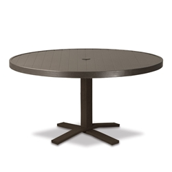 "Telescope Casual Aluminum Slat 36"" Round Chat Table with Pedestal Base - 3230-TOP-1X20"