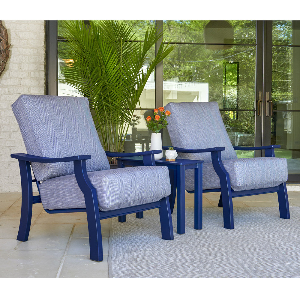 Telescope Casual St. Catherine Marine Grade Polymer Lounge Chair and Side Table Set - TC-STCATHERINE-SET8