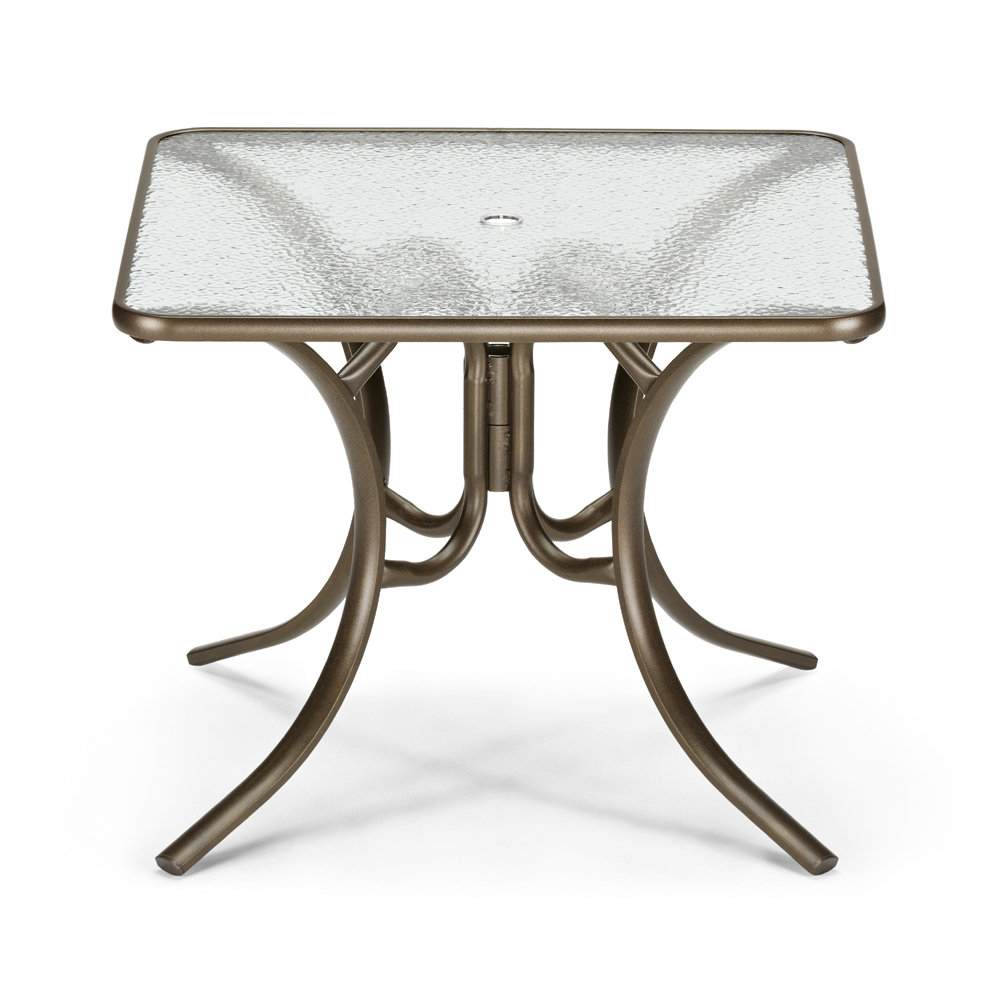 Telescope Casual 36 Square Glass Top Dining Table 3860