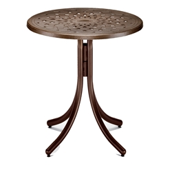 "30"" Round Cast Top Bar Table"