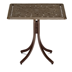 "36"" Square Cast Top Bar Table"