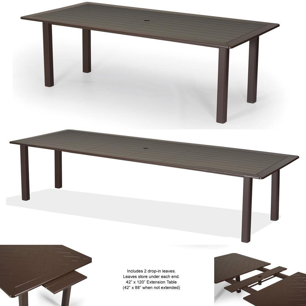 42 dining table dark wood telescope casual 42