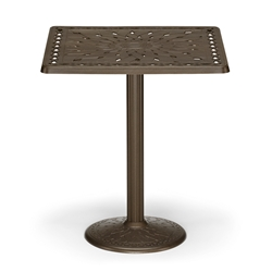 "36"" Square Cast Top Bar Table w/Pedestal Base"