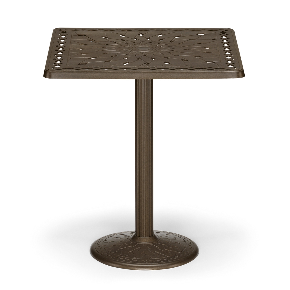 "60 Inch Square Pedestal Table: Telescope Casual 36"" Square Cast Top Bar Table W/Pedestal Base"