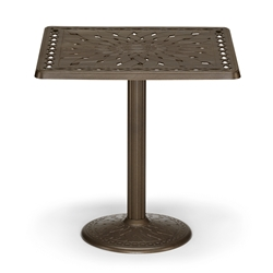 "36"" Square Cast Top Counter Table w/Pedestal Base"