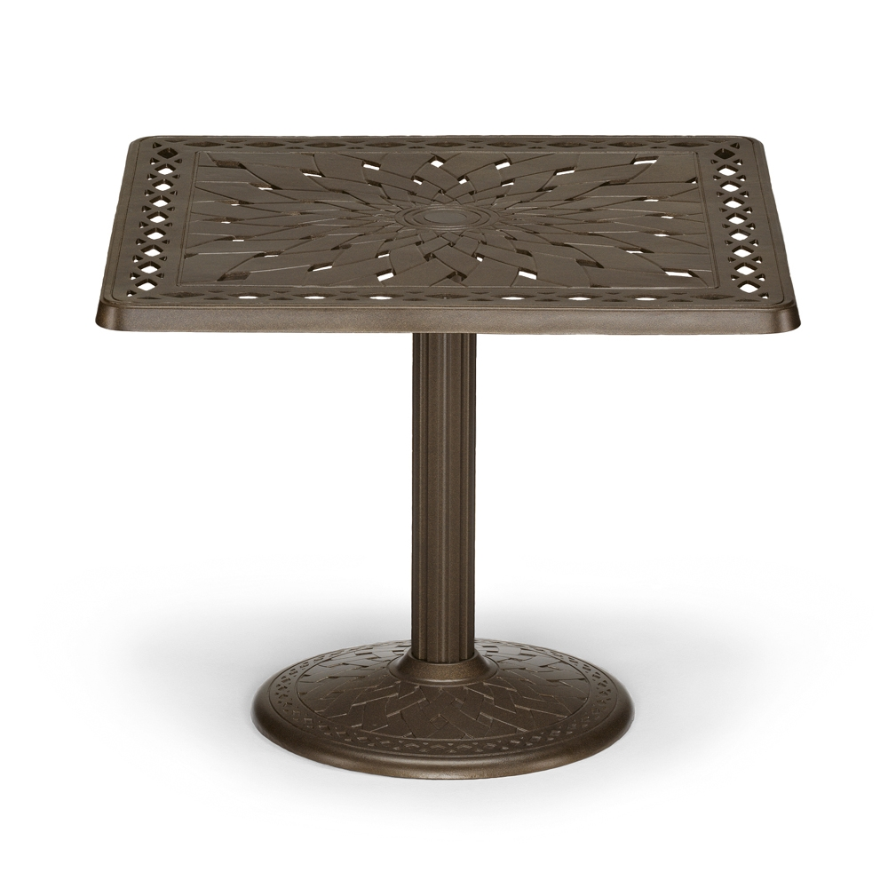 "60 Inch Square Pedestal Table: Telescope Casual 36"" Square Cast Top Dining Table W/Pedestal Base"