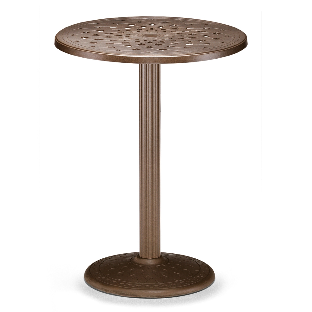 Telescope Casual 30 Quot Round Cast Top Bar Table W Pedestal