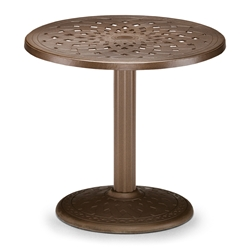 "30"" Round Cast Top Dining Table w/Pedestal Base"