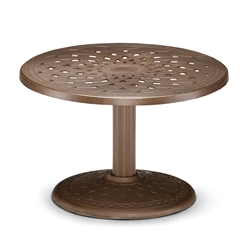 "30"" Round Cast Top Conversation Table"