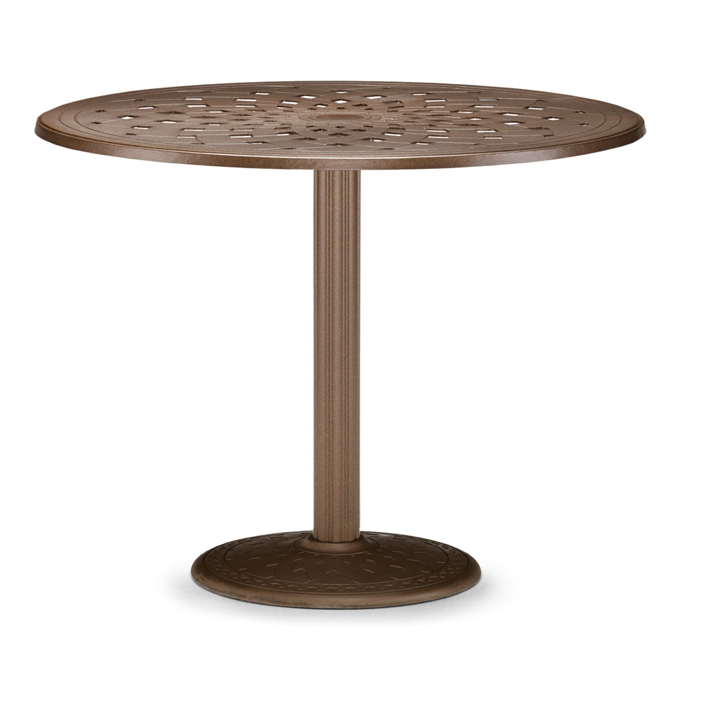 Telescope Casual 56 Round Cast Top Bar Table W Pedestal Base T720 170