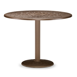 "56"" Round Cast Top Counter Table w/Pedestal Base"