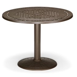 "48"" Round Cast Top Bar Table w/Pedestal Base"