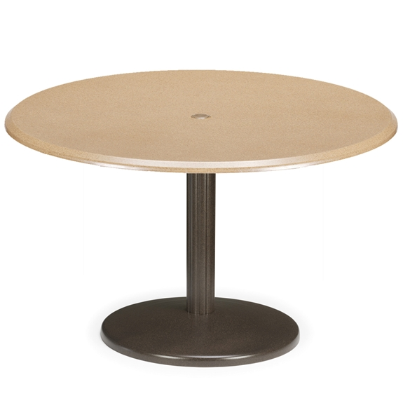 Telescope Casual 42 Round Werzalit Dining Table With Spun Pedestal