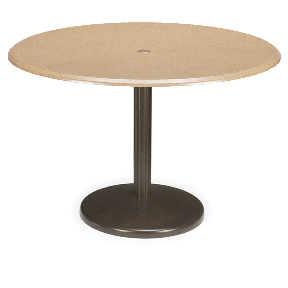 Telescope casual 48 round werzalit bar table with spun for 12 bar blues table