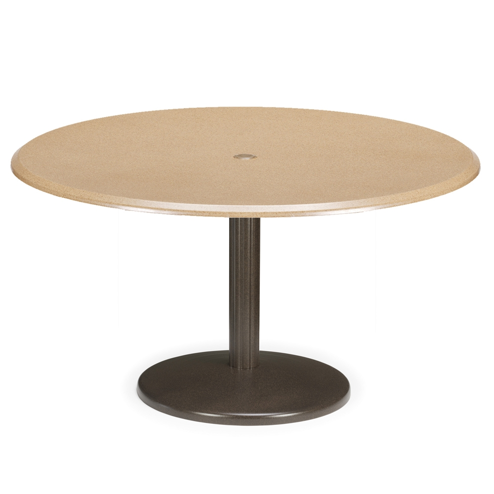 Telescope Casual 48 Round Werzalit Dining Table With Spun Pedestal