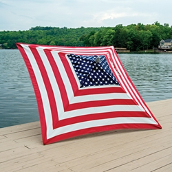 Telescope Casual Stars and Stripes 6 Foot Square Market Umbrella - 960-958