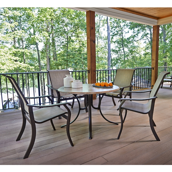 telescope casual villa sling patio dining set with