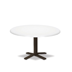 "Telescope Casual Werzalit 42"" Round Chat Table with Pedestal Base - T520-1X20"