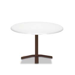 "Telescope Casual Werzalit 48"" Round Dining Table with Pedestal Base - T580-2X20"