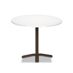 "Telescope Casual Werzalit 48"" Round Balcony Height Table with Pedestal Base - T580-3X20"