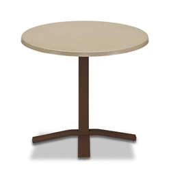 "Telescope Casual Werzalit 30"" Round Dining Table with Pedestal Base - WW20-2X20"