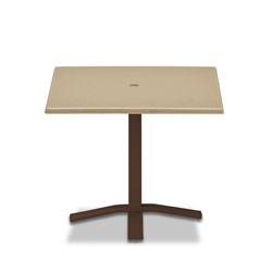 "Telescope Casual Werzalit 36"" Square Dining Table with Pedestal Base - WW50-2X20"