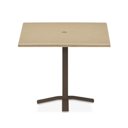 "Telescope Casual Werzalit 36"" Square Balcony Height Table with Pedestal Base - WW50-3X20"