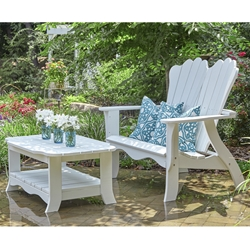 Uwharrie Chair Annaliese Settee Patio Set with Coffee Table - UW-ANNALIESE-SET2