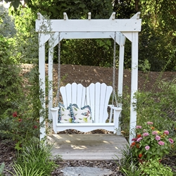 Uwharrie Chair Annaliese Swing Set w/ Arbor - UW-ANNALIESE-SET3