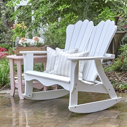 Uwharrie Chair Annaliese Settee Rocker and Side Table Set - UW-ANNALIESE-SET4