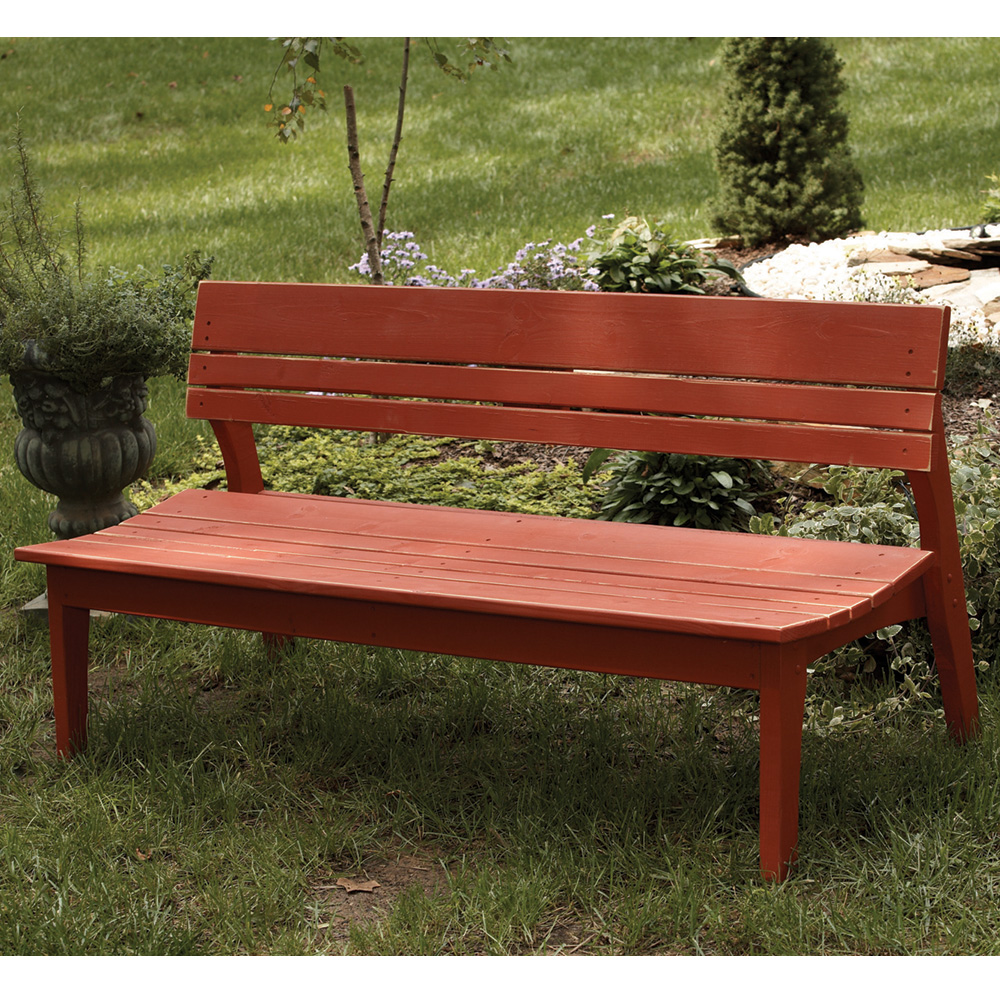 Uwharrie Chair Behren's Four-Seat Bench with Back - B074