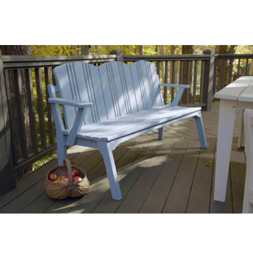Uwharrie Chair Carolina Preserves Three Seat Bench With Back   C073