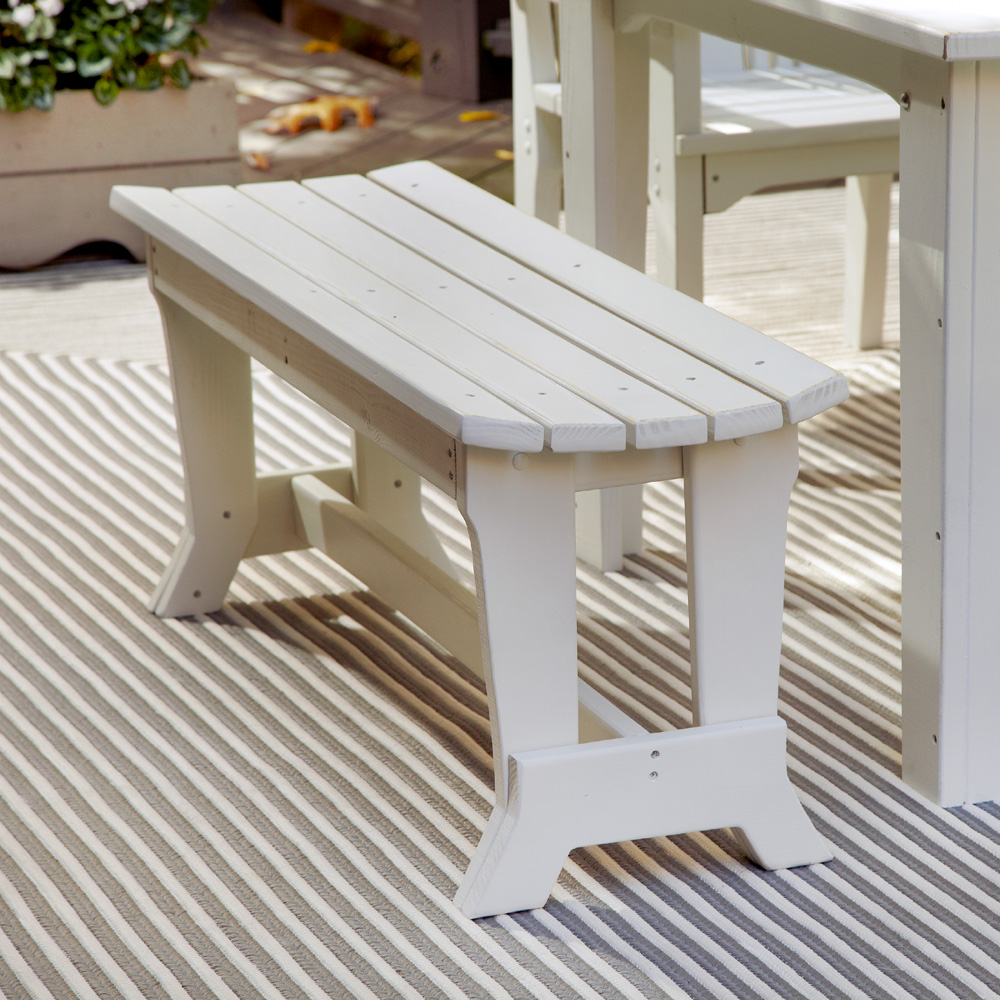 Uwharrie Chair Carolina Preserves Two Seat Bench Without Back   C097