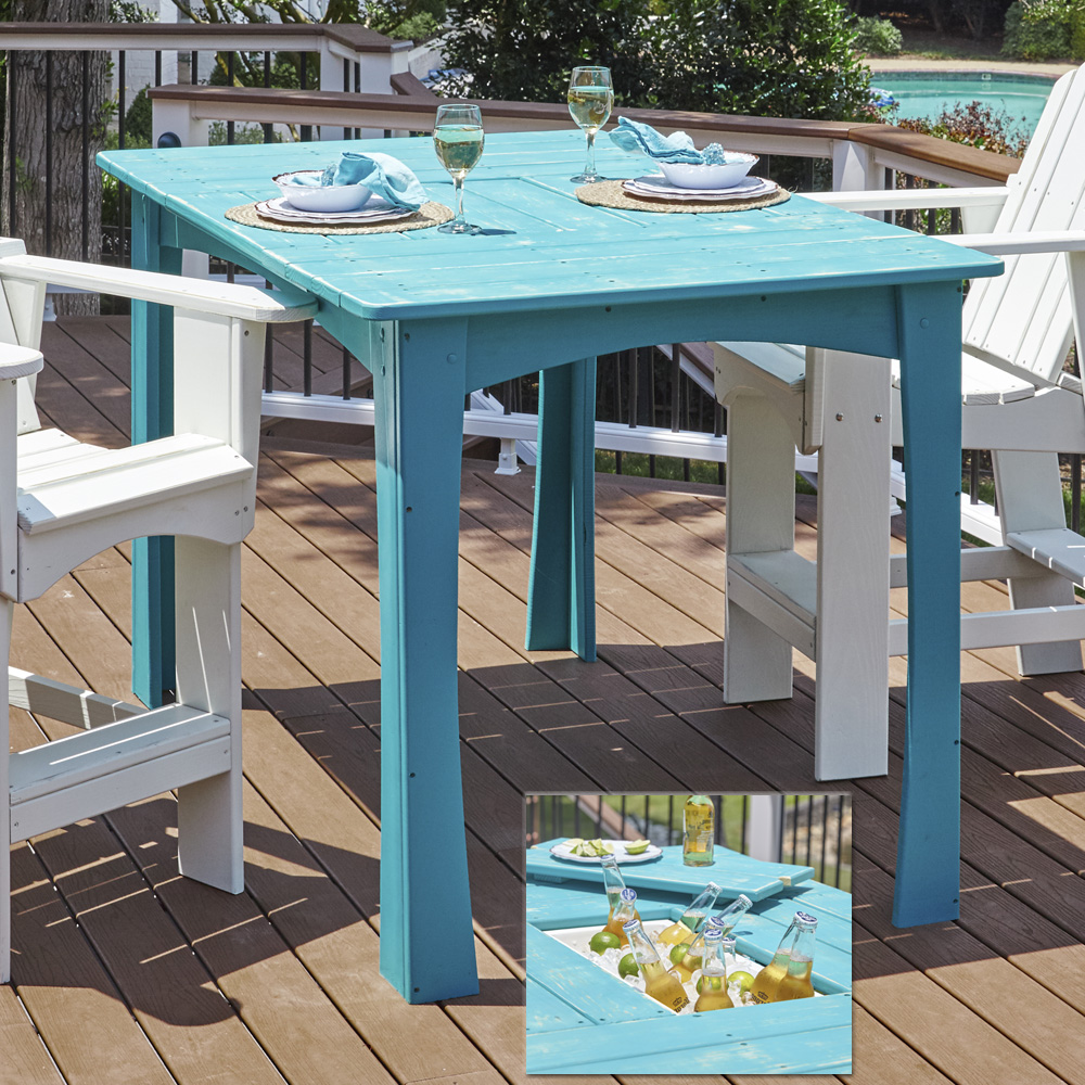 Uwharrie Chair Companion Bar Table with Cooler - 5092