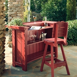 Uwharrie Chair Companion Outdoor Bar w/ Stool Set - UW-COMPANION-SET1