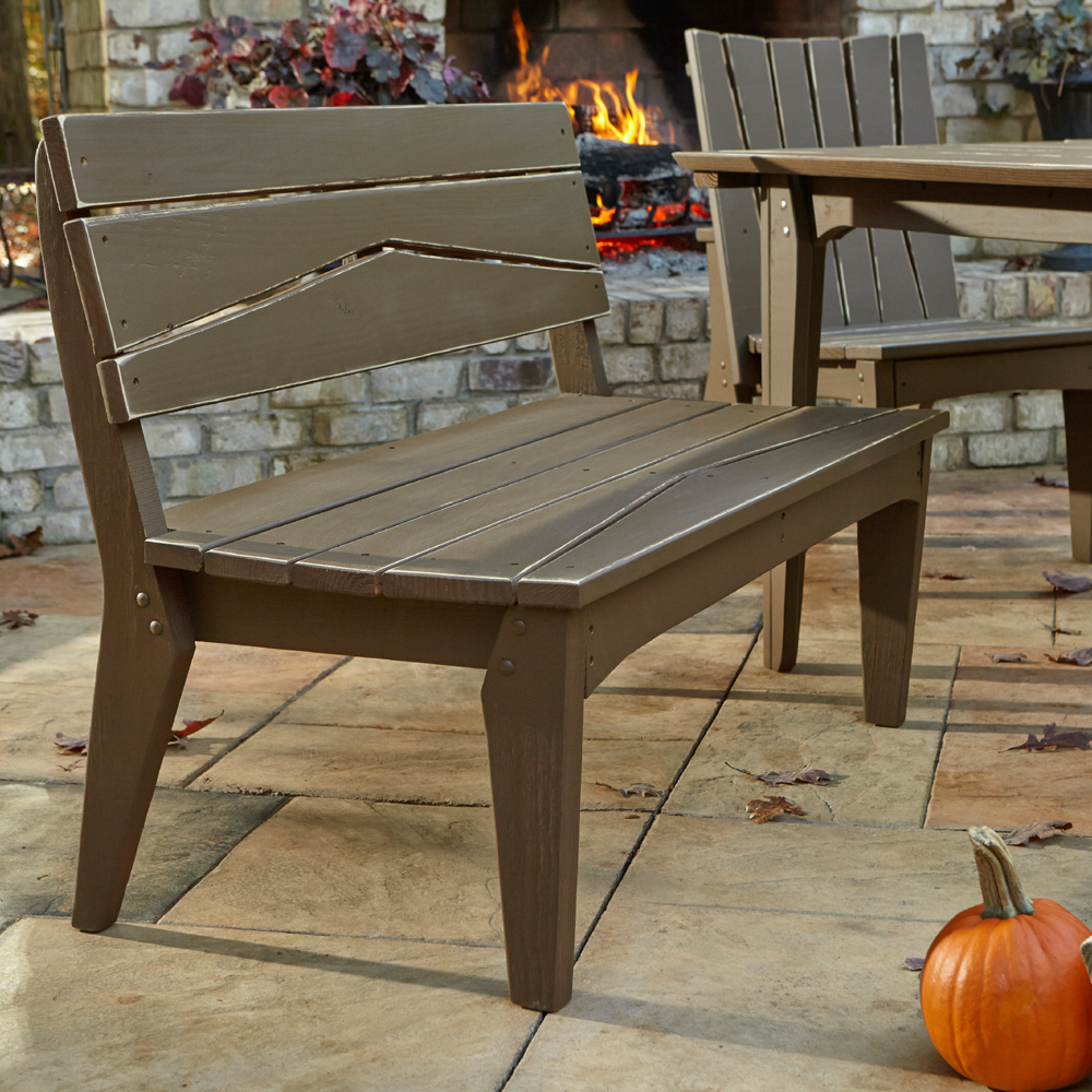 Uwharrie Chair Hourglass Two Seat Bench With Back   H072