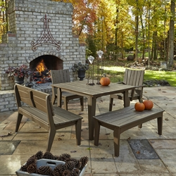 Uwharrie Chair Hourglass Outdoor Dining Set for 6 - UW-HOURGLASS-SET1