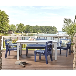 Uwharrie Chair Jarrett Bay Dining Set for 5 - UW-JARRETTBAY-SET1
